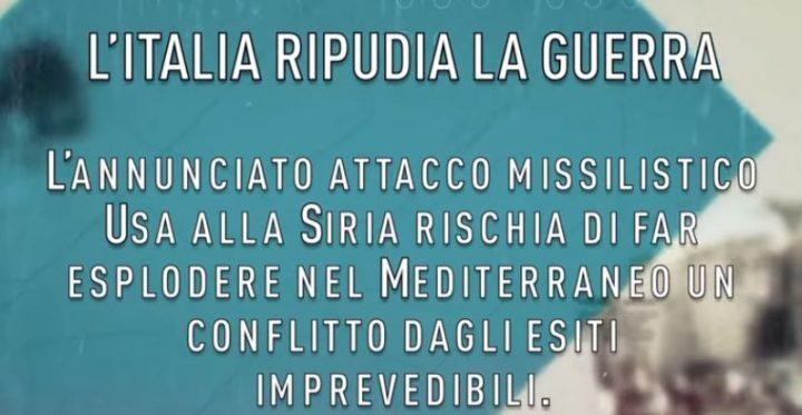 Portare l'Italia fuori dal sistema di guerra finché siamo in tempo
