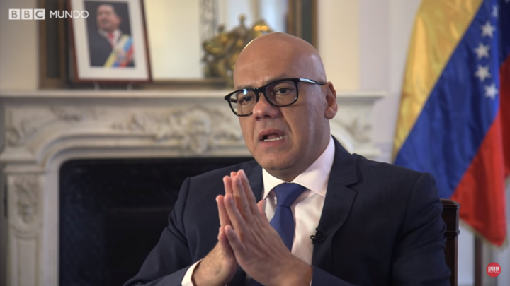 """Jorge Rodríguez, ministro de Comunicación: """"Hay una guerra mediática, psicológica, casi que de linchamiento en contra de Venezuela"""""""