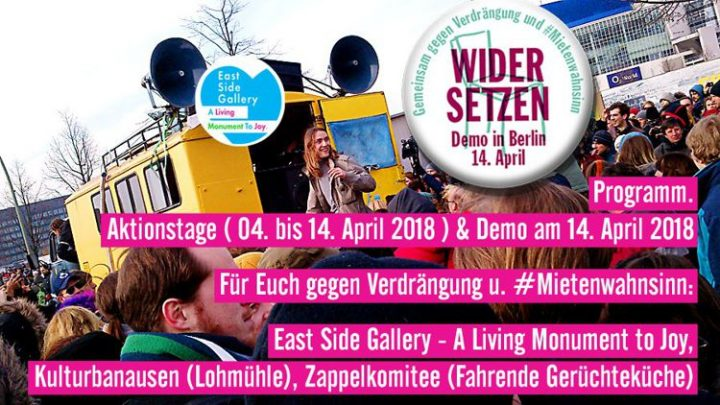 Berlin, Save your Dreams: Gemeinsam gegen Verdrängung und #Mietenwahnsinn