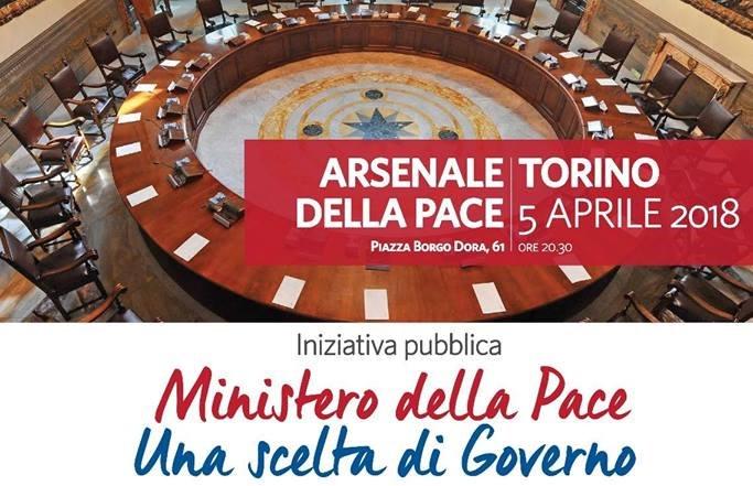 Ministero della Pace, il 5 aprile la presentazione della campagna a Torino