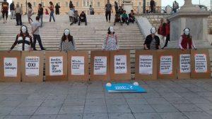Anti-Kriegsproteste im Zentrum von Athen