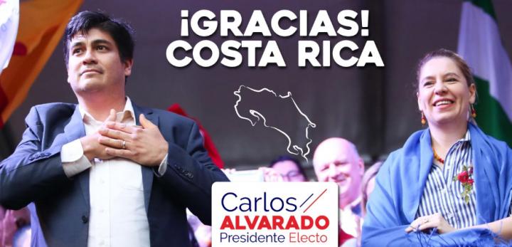El oficialista Carlos Alvarado se impone en Costa Rica