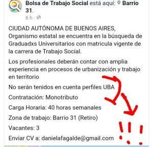 Explícita discriminación a profesionales egresados de la Universidad de Buenos Aires