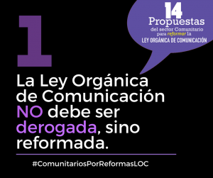 Ecuador: medios comunitarios por reformas que mejoren la Ley Orgánica de Comunicación