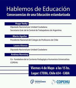 Hablemos de Educación: La Copehu reflexiona junto a diputados y referentes sindicales