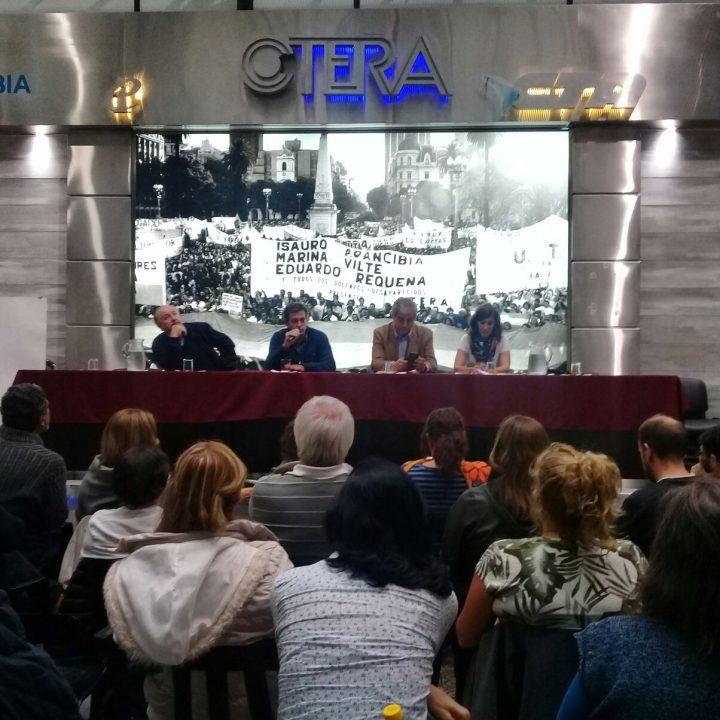 Educación humanizadora y liberadora: Yasky, Aguilar y la Copehu expusieron en CTERA