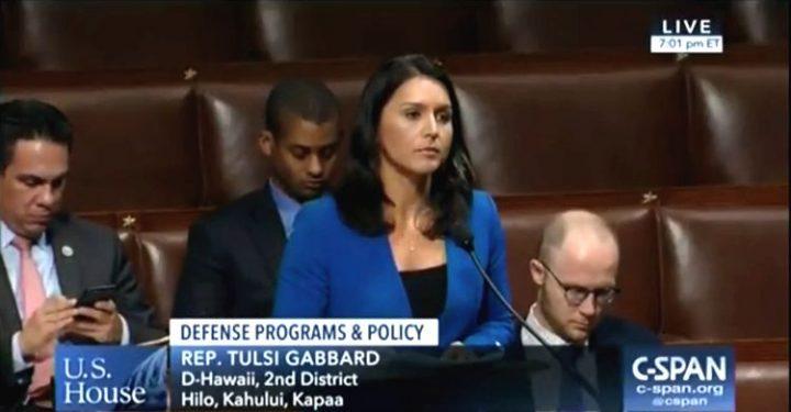 Die US-Abgeordnete Tulsi Gabbard fordert den US-Kongress auf, die Autorisierung für den Krieg gegen den Iran abzulehnen
