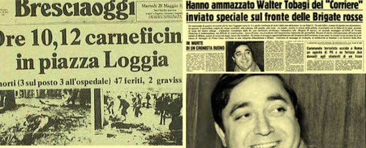 28 maggio. La strage di Piazza della Loggia (1974) e l'assassinio di Walter Tobagi (1980). Senza memoria e verità non c'è futuro