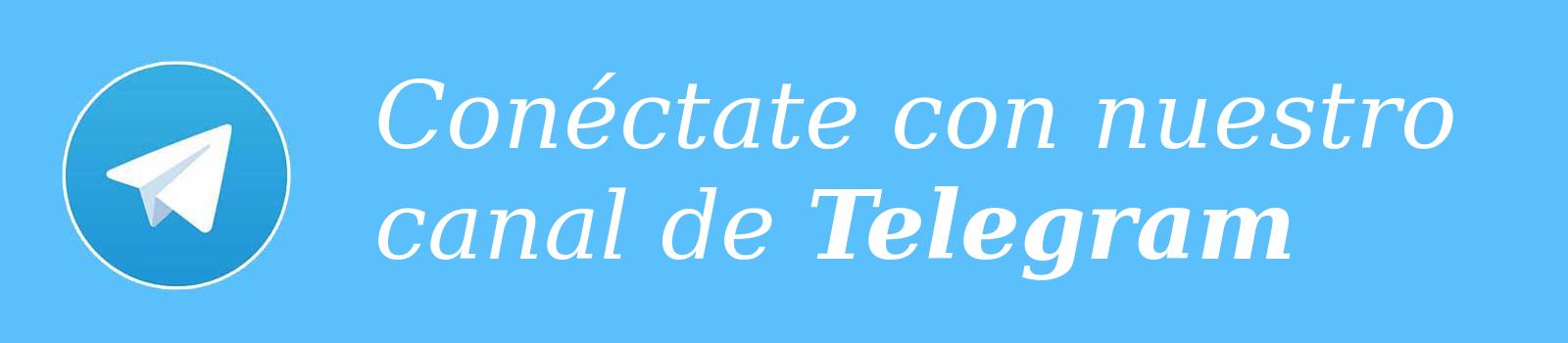 Conéctate con nuestro canal Telegram