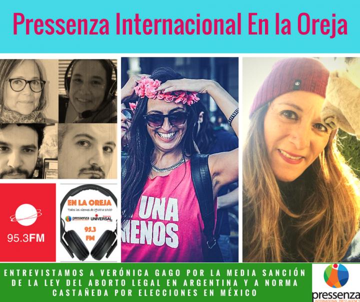 #AbortoLegal y #AMLO presidente en Pressenza Internacional En la Oreja 22/06/2018