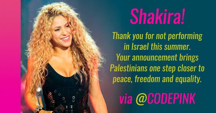 Shakira: Konzert in Israel abgesagt zur Unterstützung von Menschenrechten in Palästina