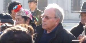Tomás Hirsch acompaña a Comunidades Mapuche a La Moneda por Celestino Córdova