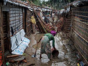 200.000 refugiados rohingya -50% niños- amenazados por las lluvias monzónicas, las inundaciones y los deslizamientos de tierra