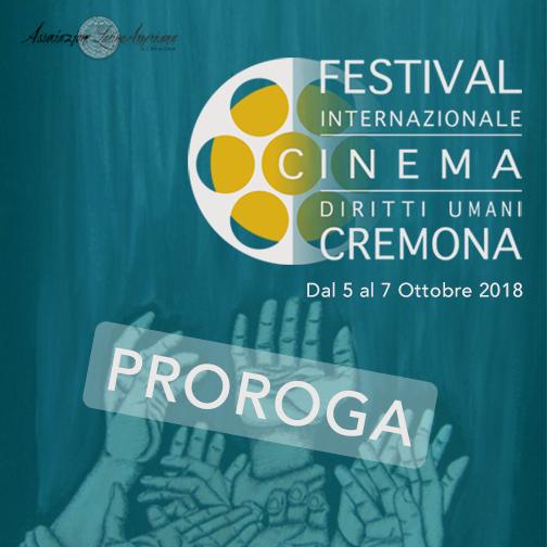 Prorogata al 30 luglio la scadenza per  il Festival Internazionale di Cinema e Diritti Umani di Cremona