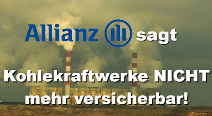 Allianz steigt aus der Versicherung von Kohlekraftwerken aus