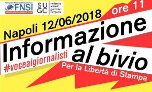#VoceAiGiornalisti un coro che rivendica libertà di stampa. Il 12 giugno a Napoli