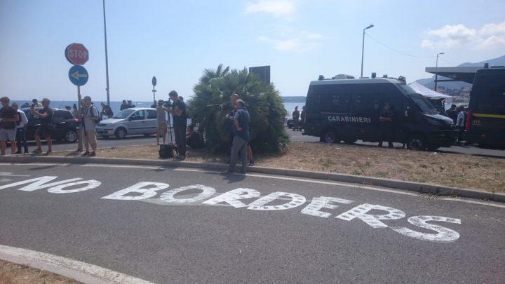 «No Borders». Iniziativa al confine italo-francese