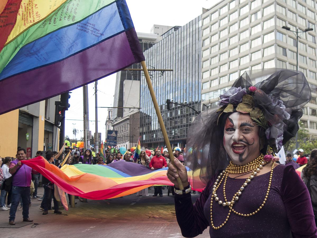 Marcha del orgullo LGBTI en Quito