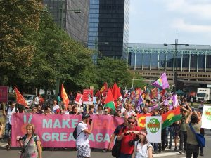 Βρυξέλλες: διαδηλώσεις ενάντια στην συνάντηση κορυφής ΕΕ-ΝΑΤΟ