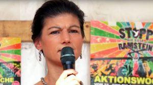 """Sarah Wagenknecht: """"Ramstein steht nicht für Sicherheit, sondern für Gefahr"""""""