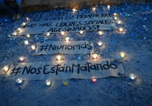 Massive Velatón [wake] in Colombia and the world for murdered social leaders