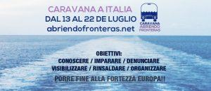 La caravane pour l'ouverture des frontières voyage en Italie