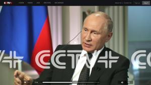 Grupo de Medios de China entrevista al presidente ruso, Vladímir Putin