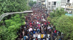 Bangladeshi students protest over road safety and justice