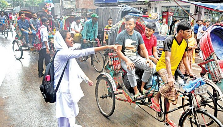 Road rage faces student spirit in Bangladesh