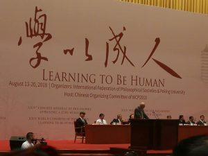 «Apprendre à être humain» : le 24e Congrès mondial de Philosophie s'est ouvert à Pékin