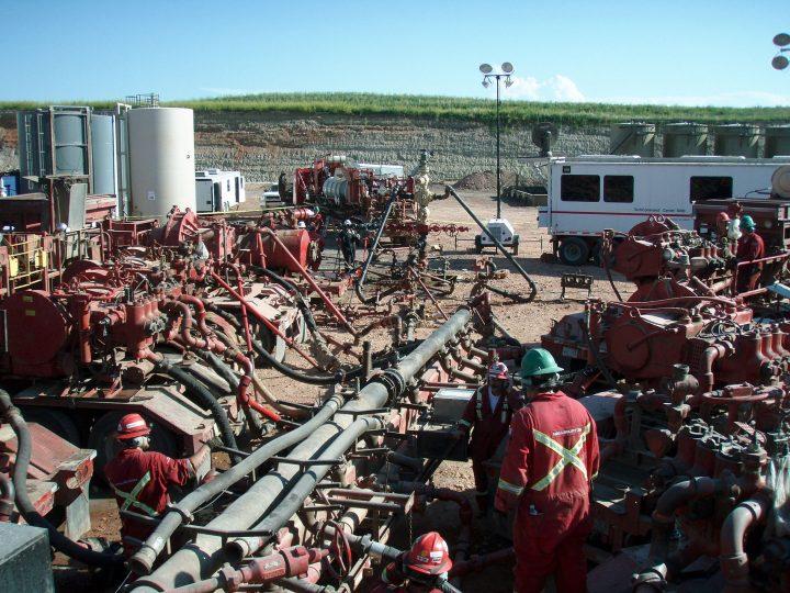 Fracking mechanism to produce radioactive waste