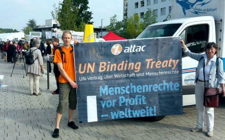 Menschenrechte vor Profit – weltweit!