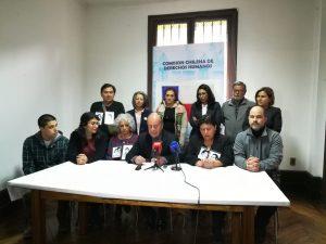Organizaciones de Derechos Humanos exhortan a los parlametarios chilenos