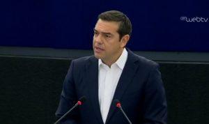 Τσίπρας στο Ευρωκοινοβούλιο: ο νεοφιλελευθερισμός μετέφερε την ακροδεξιά από το εδώλιο του κατηγορημένου της ιστορίας στο πολιτικό προσκήνιο