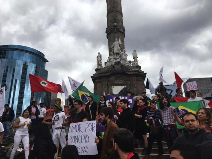 México em solidariedade ao Brasil contra o fascismo