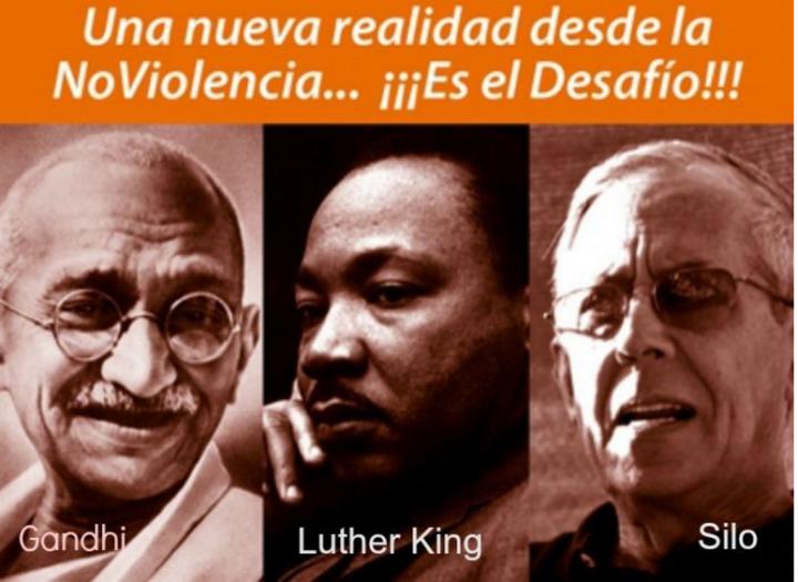 A Primeira Marcha Sulamericana pela paz e não violência chega a Lima (Peru), no dia internacional da não violência