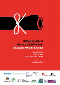 Seminario sobre la radicalización violenta, vías para la acción preventiva