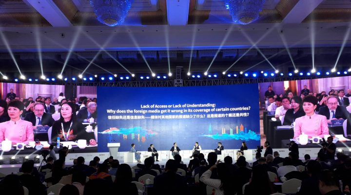Pressenza in the CGTN Global Media Summit and the CCTV+ Video Media Forum in Chongqing, China