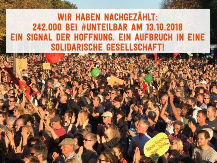Indissociable – 240 000 manifestants à Berlin pour la solidarité et pour un non à l'exclusion
