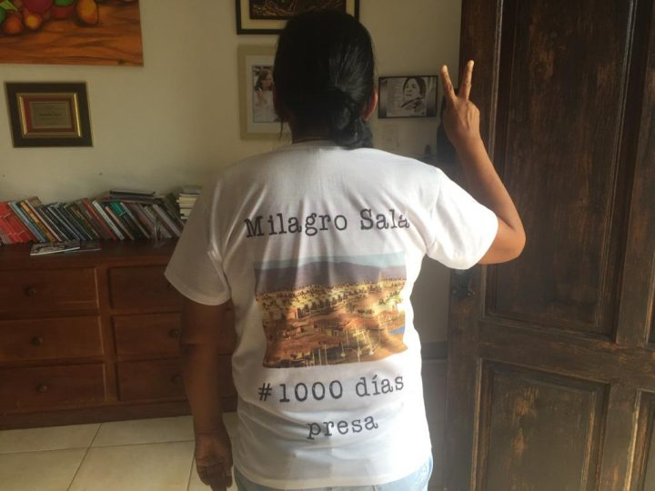 For the Thousand Days of Milagro Sala in prison an international campaign