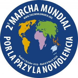 Launch of the 2nd World March for Peace and Nonviolence at the 2nd World Forum of Peace Cities in Madrid.