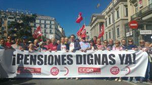 Los jubilados reivindican el papel de la protesta para defender las pensiones: «Sin nosotros no hay IPC»