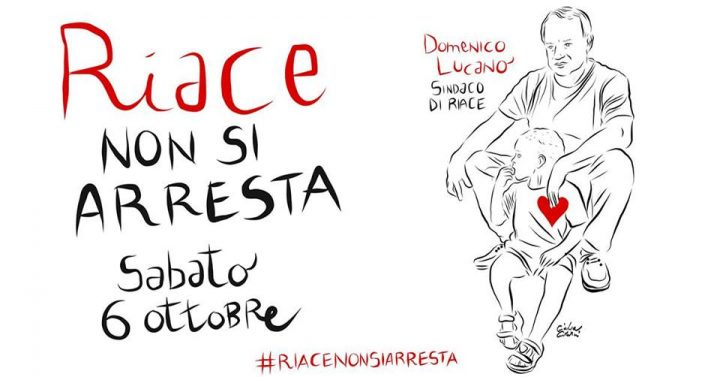 Solidarietà a Mimmo Lucano. #Riacenonsiarresta