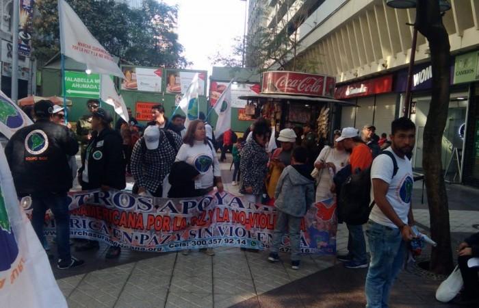 Chega ao fim a primeira marcha Sul-Americana pela Paz e a não Violência