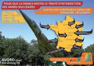 Pour que la France ratifie le traité d'interdiction des armes nucléaires. Journée de mobilisation nationale, dimanche 14 octobre 2018