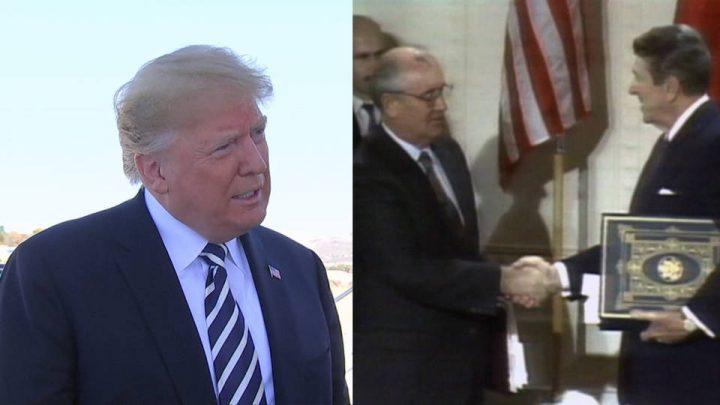 Trump se retirará de acuerdo nuclear firmado en 1987 entre Estados Unidos y Rusia