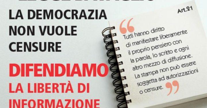 #giùlemanidall'informazione, il 13 novembre in piazza per difendere libertà di stampa