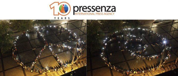 Pressenza, l'agència internacional de notícies per a la Pau i laNoviolència,celebra el seu desè aniversari