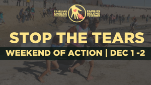"""""""Stop the Tears"""", weekend of action on December 1 – 2"""