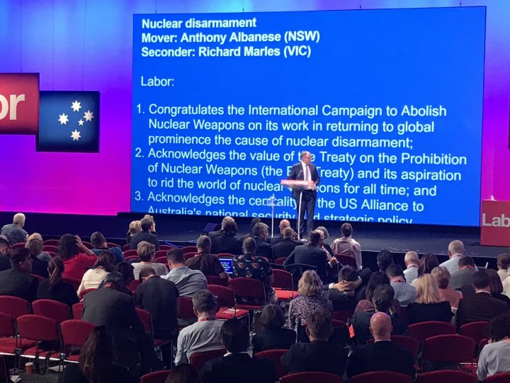 Australian Labor Party commits to join the UN nuclear weapon ban treaty